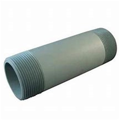 "PVC GREY PIPE RISER - Threaded 1"" BSPT both ends, Sch 80"